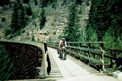 AdamK Crossing #4 Trestle at Myra Canyon