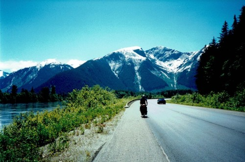 Tim Riding Alongside the Skeena River