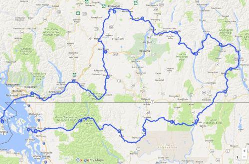 Northern Washington and Southern BC Loop Tour of 8 Mountain Passes