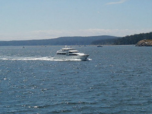 Spencer Spit, Lopez Island Viewed from the Ferry