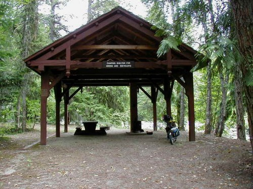 Nice Shelter for Cyclists & Hikers