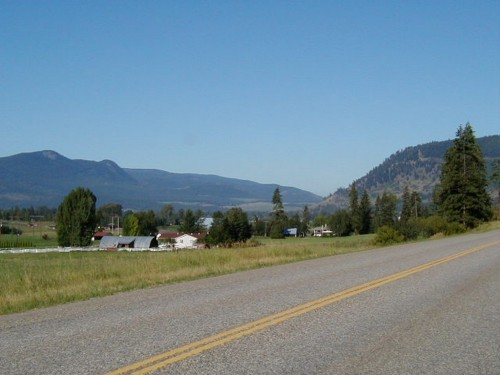 On the road to Vernon