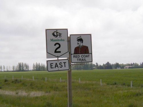 Saskatchewan Highway 13 changes to 2 in Manitoba