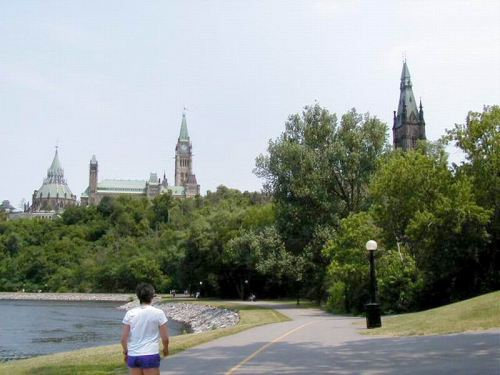 Bike Path Behind the Parliament Buildings