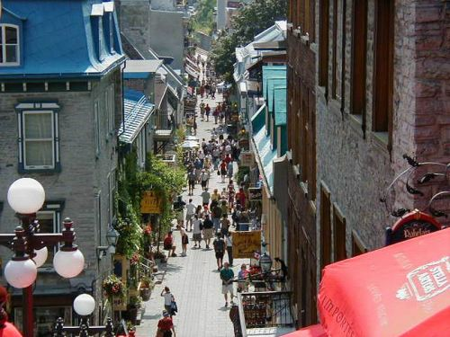 The Narrow Streets of Quebec City