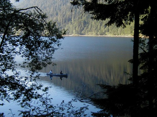 Peaceful morning on Lake Crescent