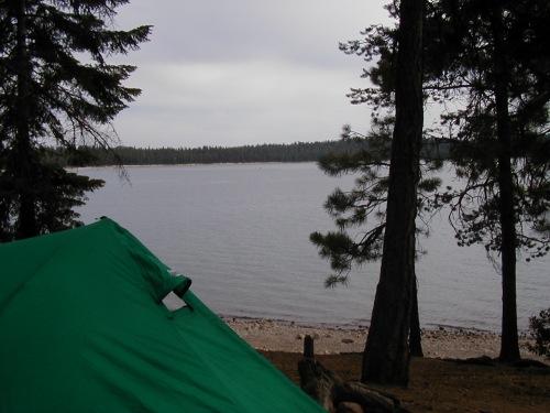 Nice lakeside campsite!