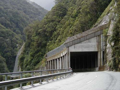 Avalanche Tunnel at the Otira Gorge
