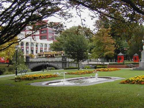 Beautiful gardens alongside the River Avon