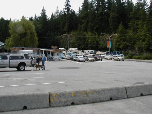Waiting at the Earls Cove Ferry Dock Parking Lot