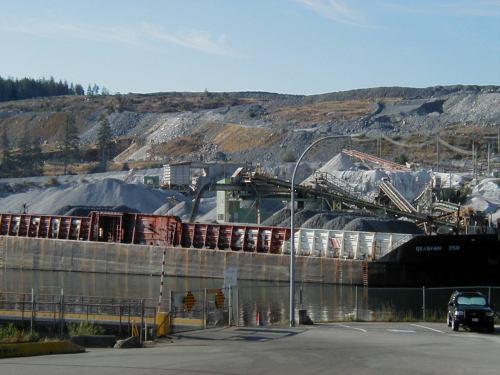 Limestone Mining Operation at Blubber Bay