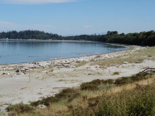 Beautiful Beach at Tee Pee Campground in Comox
