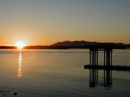 Sunset over Tofino Harbour