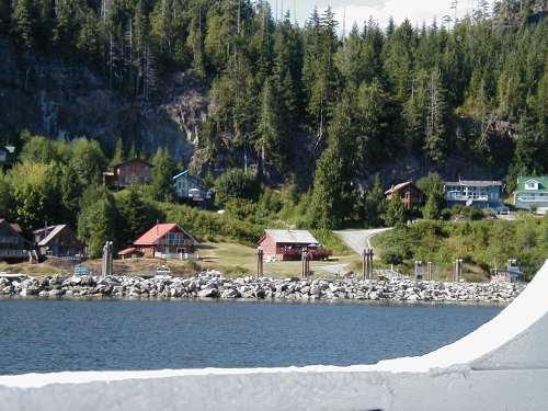 Cargo Stop in Alberni Inlet