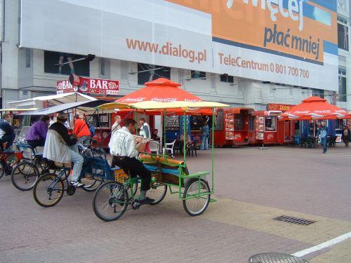 Riksze (rickshaws)