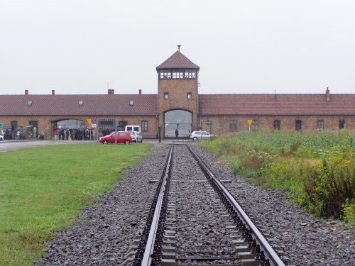 The Entrance to Birkenau Concentration Camp