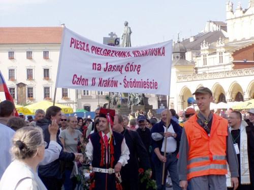 Pilgrims Assembling in Kraków