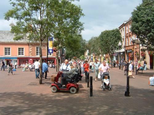 Pedestrian Friendly Downtown Carlisle