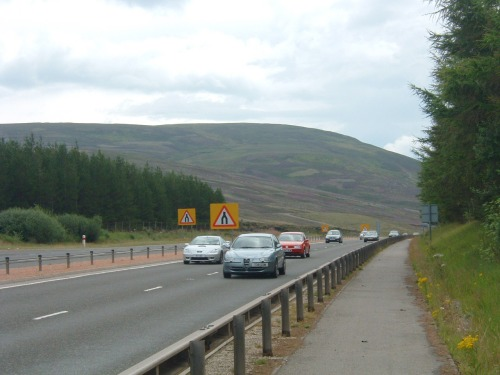Bike Path next to Busy A9 Road