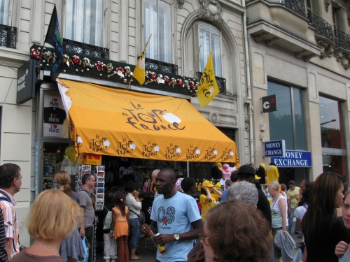TDF Souvenir Shop on the Champs-Élysées