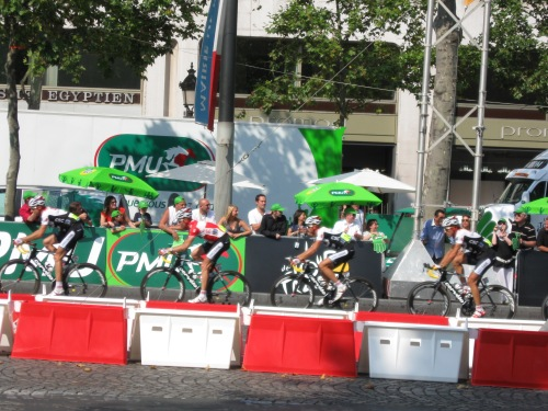 The sprint finish line of the 2008 TDF