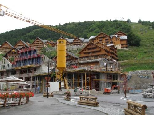 Construction at Valloire