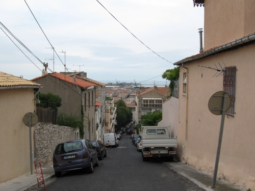 Steep Hill up to the Hostel