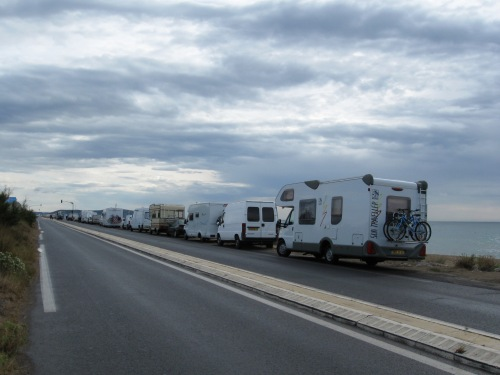 Tourists Hiding in their Motorhomes!