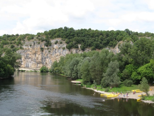 Kayakers on the Dordogne