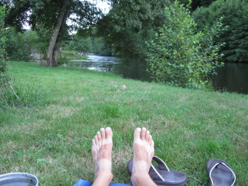 Nice Campsite & Tanned Feet!