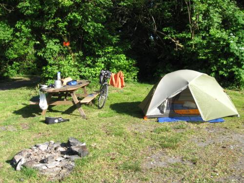 Camping at Pacheedaht