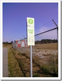 Heartsmart Signs every Kilometre along the Trail