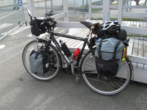 My Bike at the Sidney to Anacortes Ferry Dock