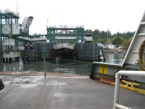 Arriving at the Anacortes Ferry Dock