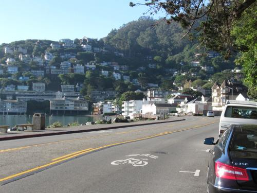 Riding in Sausalito