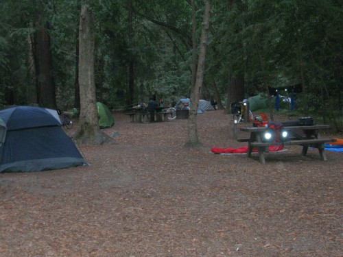 Campground Filling up Last Night