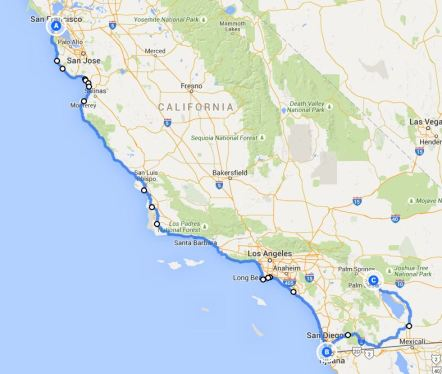 San Fran to Indio
