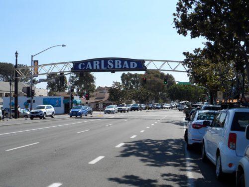 Entering Carlsbad