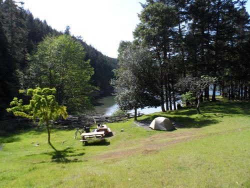 Camping at Narvaez Bay