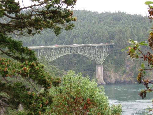 Deception Pass Bridge between Fidalgo and Whidbey Islands