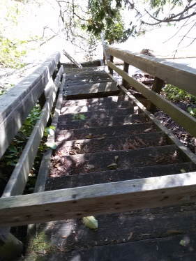 Stairs to Beach Rotted Away and Unrepaired