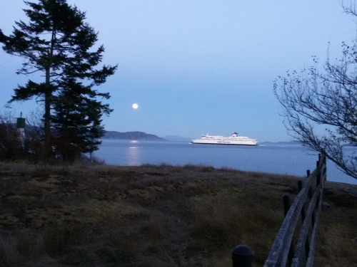 BC Ferry Cruising by Ruckle Park on Saltspring Island