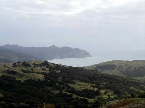 Tokomaru Bay from the top of Tokomaru Hill
