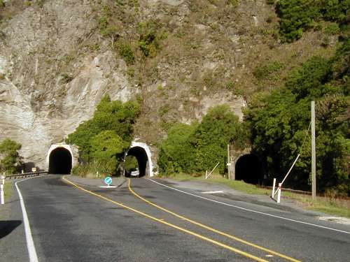 Three separate tunnels!