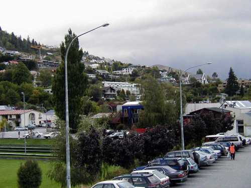 Houses scattered on the hillsides