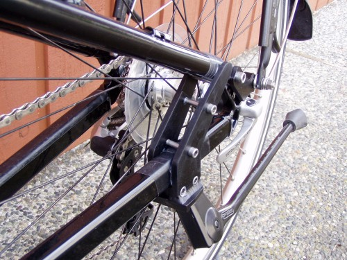 Custom kickstand mount for rectangular chainstay