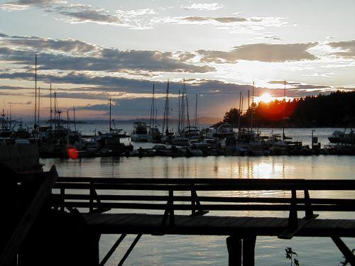 Sunset at Lund, BC