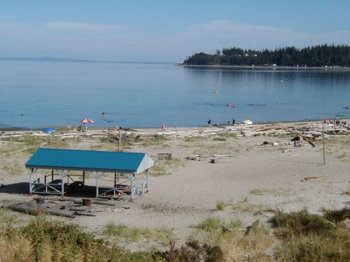 TeePee Campground Beach in Comox