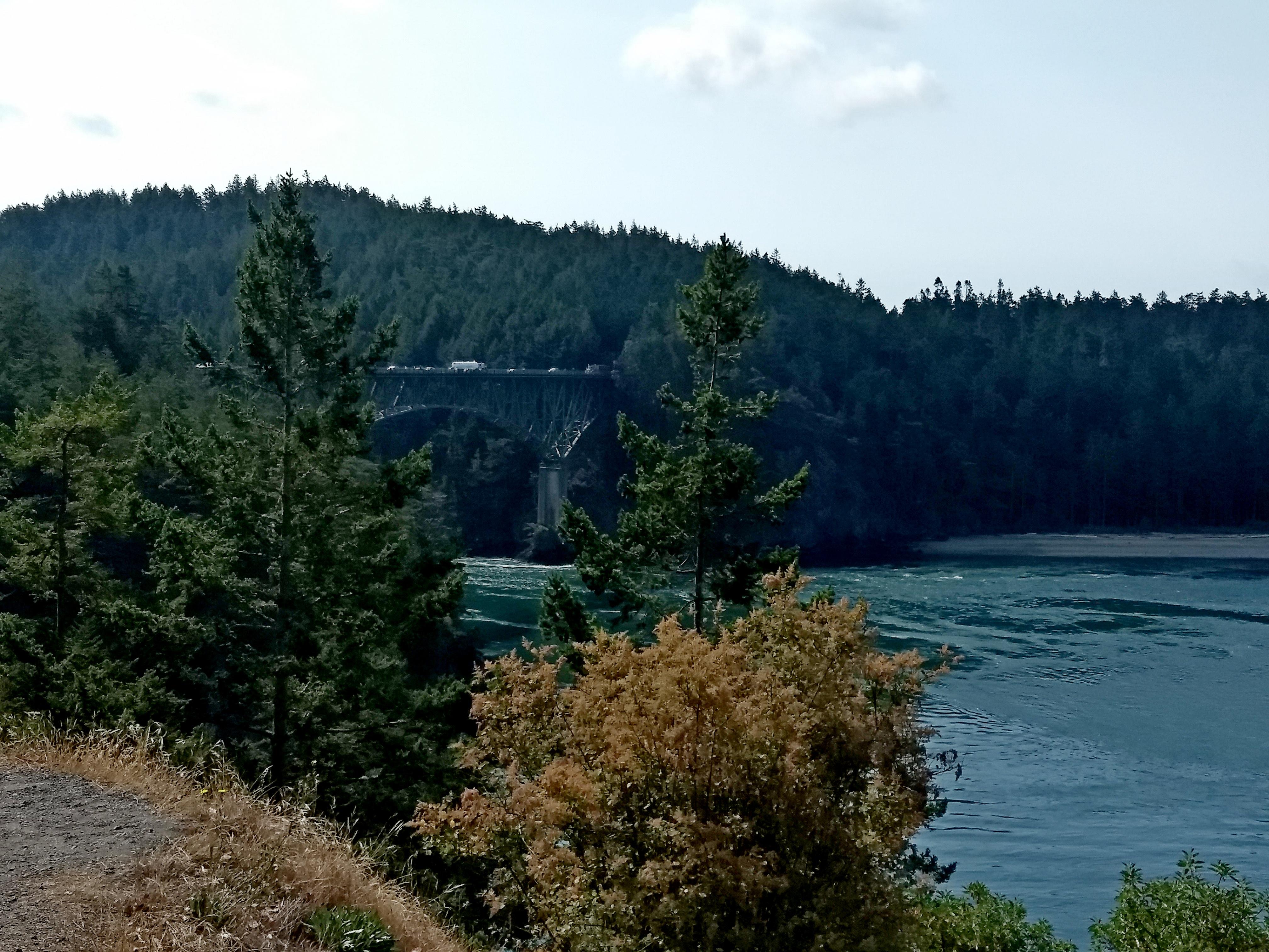 Deception Pass Bridge from Fidalgo Island