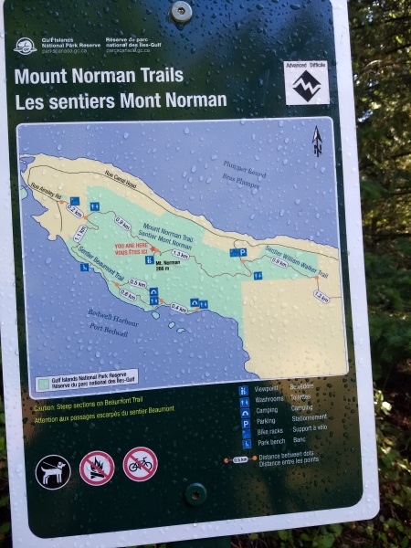 Trail Information at the Summit
